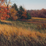 pastel painting titled Along an October Drive by Judy Howard